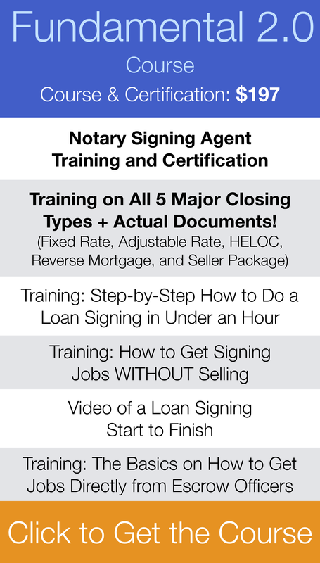 Loan Signing System Notary Agent Training Course