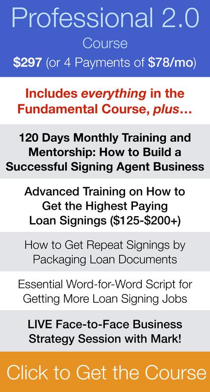 Loan Signing System Professional Course