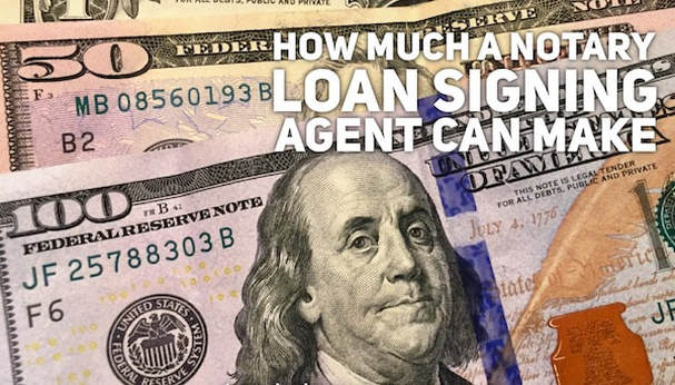 How much a notary loan signing agent can make