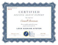 Loan Signing Agent Certification